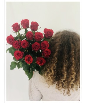 Bouquet de roses rouges 70 CM