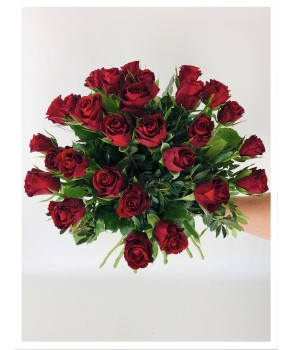 Bouquet rond -  roses rouges